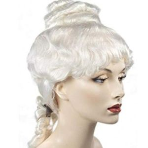 Other - Synthetic White Colonial Wig Women's Bun On Top